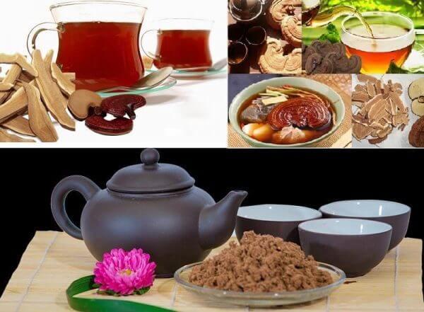 Sử dụng nấm Linh Chi pha trà hay chế biến món ăn bồi bổ cơ thể